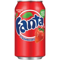 Fanta Strawberry Flavored Soda, 12 Fl. Oz., 12 Count