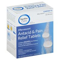 Signature Home Antacid & Pain Relief, Effervescent Tablets
