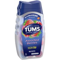 Tums Assorted Berries Extra Strength 750 Chewable Tablets Antacid