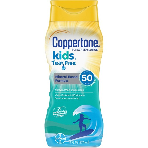 Coppertone Kids Tear Free Mineral Sunscreen Lotion - SPF 50 - 8oz