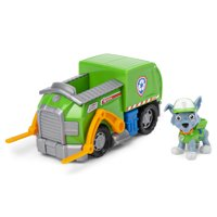 PAW Patrol, Rocky's Recycle Truck Vehicle with Collectible Figure, for Kids Aged 3 and Up