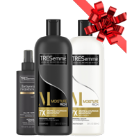 ($13 Value) TRESemme 3-Piece Moisture Rich Gift Set with Shampoo, Conditioner, and All-In-One Styling Spray
