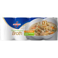 Swanson All Natural 33% Less Sodium Chicken Broth, 12 x 14.5 oz