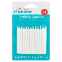White Birthday Candles