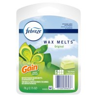 Febreze Odor-Eliminating Wax Melts Air Freshener with Gain Original Scent, 6 count