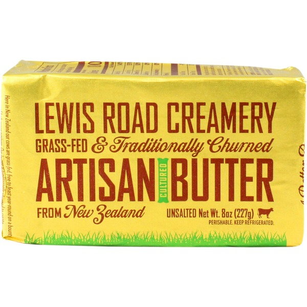 Lewis Road Creamery Grass Fed Artisan Unsalted Butter
