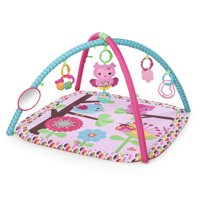 Bright Starts Charming Chirps Activity Gym and Play Mat with Take-Along Toys, Ages Newborn +
