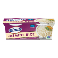 Minute Ready To Serve Jasmine Fragrant Thai White Rice, 4.4 oz Cups, 2 Count