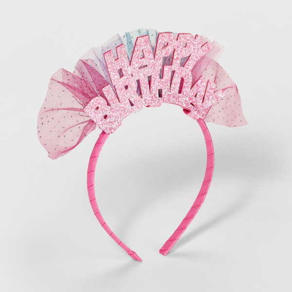 Girls' Happy Birthday Headband - Cat & Jack™ Pink