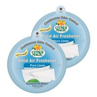 Citrus Magic Solid Air Freshener, Pure Linen, Pack of 2, 8-Ounces
