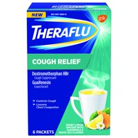 Theraflu Cough Relief Honey Lemon Infused with Chamomile & White Tea Powder, 6 Count