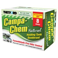Campa-Chem Natural Dry RV Holding Tank Treatment - Deodorant / Waste Digester / Detergent - 8 x 2 oz. packets - Thetford 24383