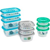 Glad Food Storage Containers - Glad Match Ware Variety Pack - 10 Containers - 20pc Set