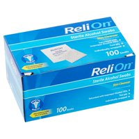 ReliOn Skin Cleanser Sterile Alcohol Swabs, 100 count