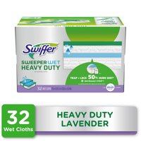 Swiffer Sweeper Heavy Duty Wet Pad Refills, Lavender Scent, 32 count