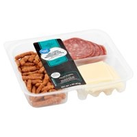 Great Value Snack Plate, Genoa Salame, Provolone Cheese & Cheddar Sesame Sticks, 3 Oz.