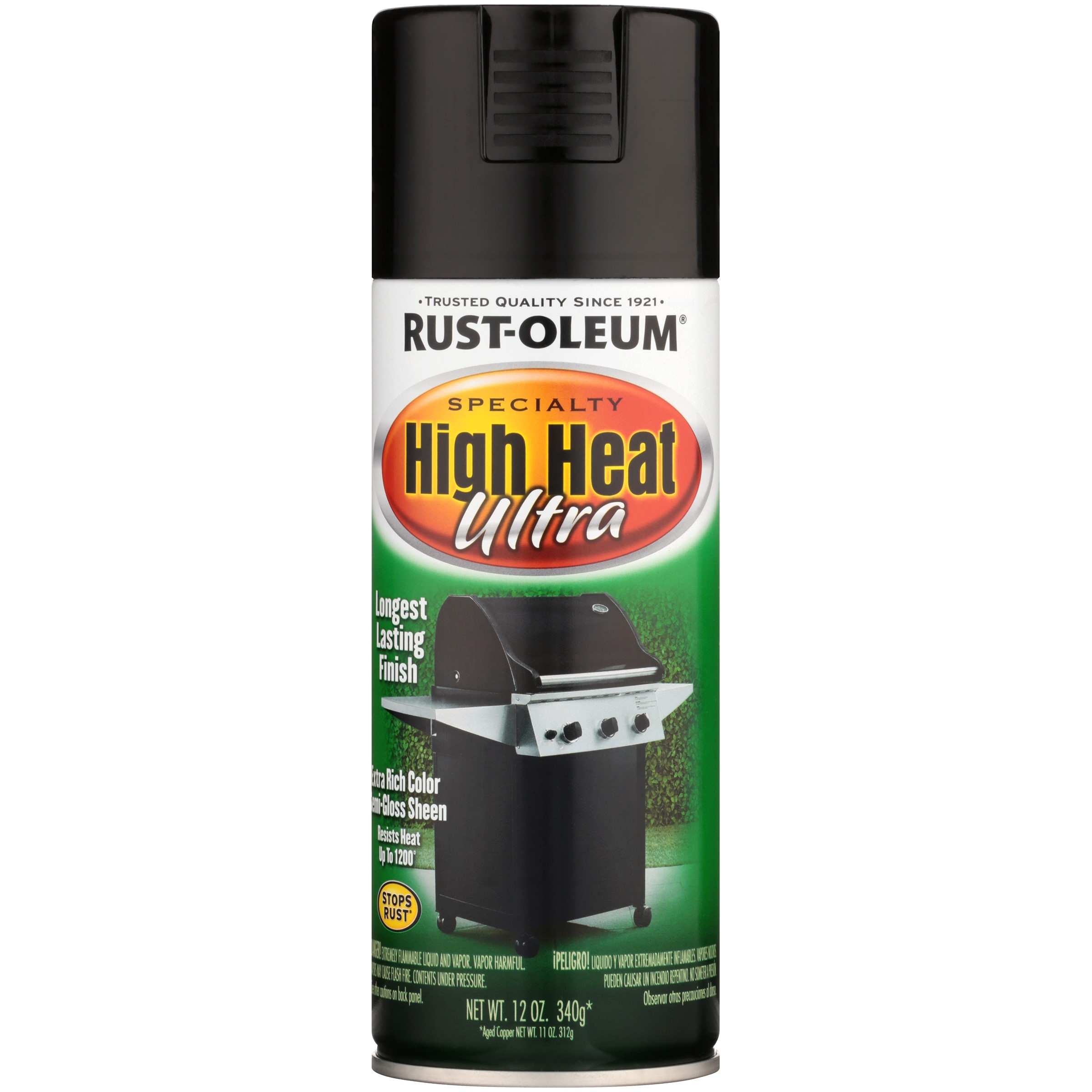 (3 Pack) Rust-Oleum Specialty High Heat Ultra Black Spray Paint, 12 oz