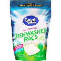 Great Value Automatic Dishwasher Pacs, Fresh Scent, 12 oz, 20 Count