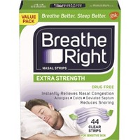 Breathe Right Extra Clear for Sensitive Skin Nasal Strips - 44ct