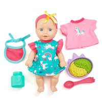 Kid Connection Mini Doll Playset, 11 Pieces Included
