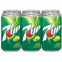 7UP Caffeine-Free Lemon Lime Flavored Soda, 7.5 Fl. Oz., 6 Count