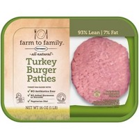 Farm to Family by Butterball No Antibiotics Ever 93/7 Ground Turkey Burgers - 1lb