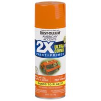 Real Orange, Rust-Oleum American Accents 2X Ultra Cover, Gloss Spray Paint, 12 oz