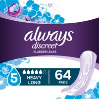 Always Discreet Incontinence Pads, Heavy Absorbency, Long, 117 ct