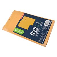 Pen plus Gear 6 x 9 Clasp Envelopes, 6 Count
