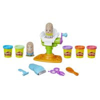 Play-Doh Buzz N' Cut Fuzzy Pumper Set with 5 cans of dough (10 oz)