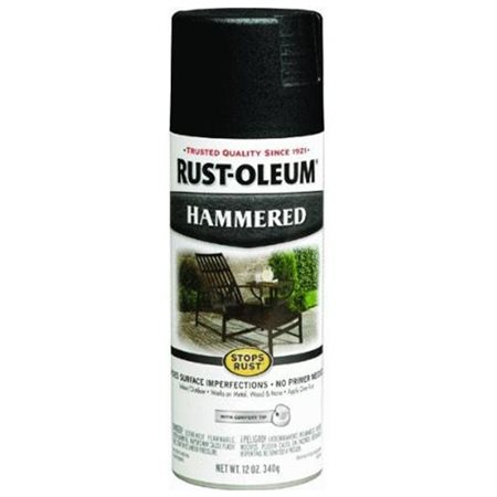 (3 Pack) Rust-Oleum Stops Rust Black Hammered Spray Paint, 12 oz