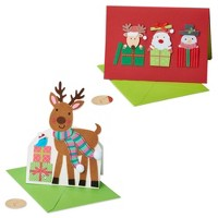 2ct Santa And Friends Greeting Cards - PAPYRUS