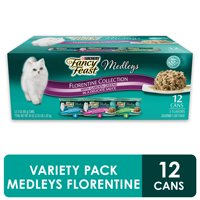 (12 Pack) Fancy Feast Gravy Wet Cat Food Variety Pack Medleys Florentine Collection 3 oz. Cans