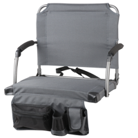 Ozark Trail Heated Stadium Seat with Battery Pack, Gray