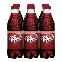Dr Pepper Soda, 0.5 L, 6 Count