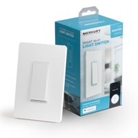 Merkury Innovations Smart Wi-Fi Light Switch No Hub Required, Voice Control, Requires 2.4GHz WiFi