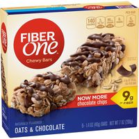 Fiber One Chewy Bars, Oats & Chocolate