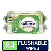Cottonelle GentlePlus Flushable Wet Wipes with Aloe & Vitamin E, 42 Wet Wipes per Pack (84 Total Wipes)