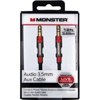 Monster® Auxiliary Stereo Audio Cable 12ft