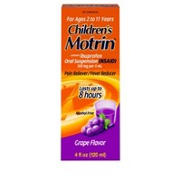 Children's Motrin Pain Reliever/Fever Reducer Liquid - Ibuprofen (NSAID) - Grape - 4 fl oz