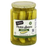 Signature Kitchens Pickles, Spears, Kosher Dill, Fresh Pack
