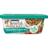 Purina Beneful Gravy Wet Dog Food, Prepared Meals Savory Rice & Lamb Stew - 10 oz. Tub