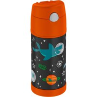 Thermos 12 Oz Funtainer Vacuum Insulated Straw Bottle, 12-Ounce, Space Party