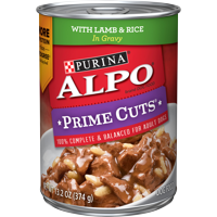 Purina ALPO Gravy Wet Dog Food, Prime Cuts With Lamb & Rice in Gravy - 13.2 oz. Can