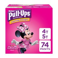 Pull-Ups Girls' Learning Designs Training Pants, Size 4T-5T, 74 Count
