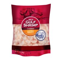 Wild Gulf Shrimp Extra Small Cooked Gulf Shrimp 12 oz, 100/150 Count