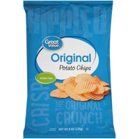 Great Value Gluten-Free Rippled Original Potato Chips, 8 Oz.