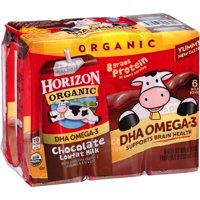 Horizon Organic® DHA Omega-3 Lowfat Chocolate Milk 8 fl oz, 6 Count