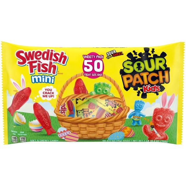 Sour Patch Kids & Swedish Fish Soft & Chewy Candy Variety Pack
