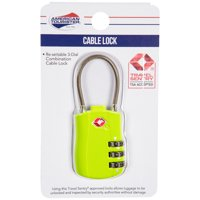 American Tourister Cable Lock - Lime